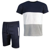 Men\'s T-shirt and Shorts Casual Gym Summer Set