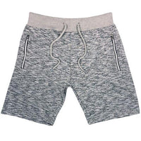 Mens Fleece Gym Shorts Zip Pockets