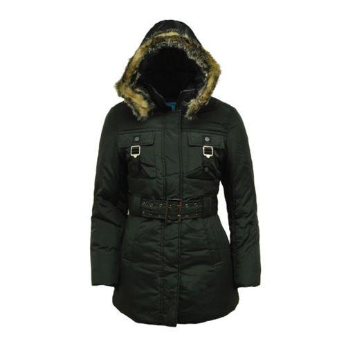 Size 36' Parka Jacket With Belt And Hood