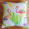 flamingo natural tropical outdoor cushion