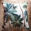 tropical palm tree barkcloth cushions