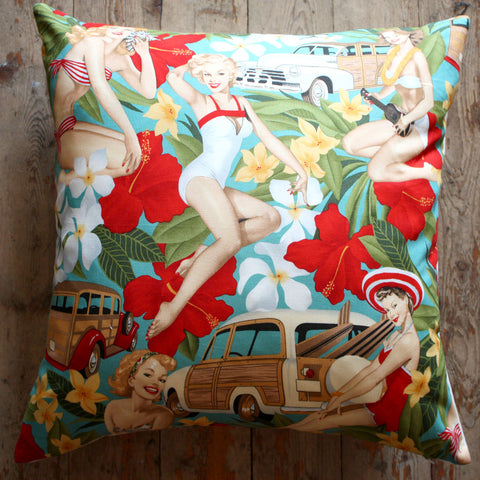 pin up aloha girls cushions