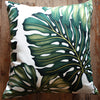 tropical monstera leaf cushion