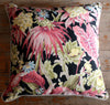 vintage retro leaf barkcloth cushion cover