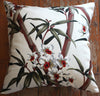 tropical bamboo barkcloth cushions