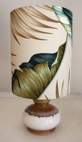 vintage table lamp with palm tree shade/SOLD