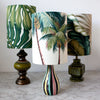 retro olive drip glaze lamp/SOLD