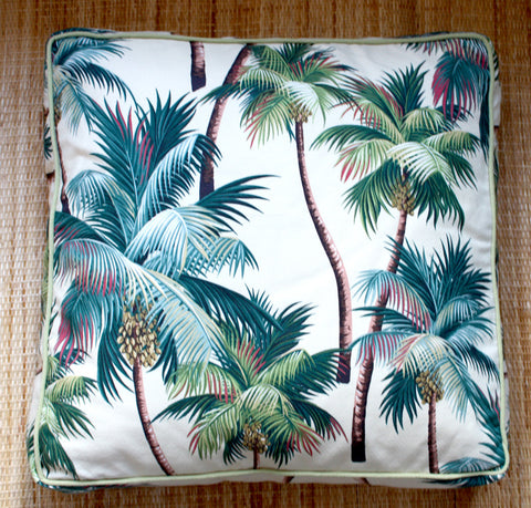 palm tree retro floor cushions