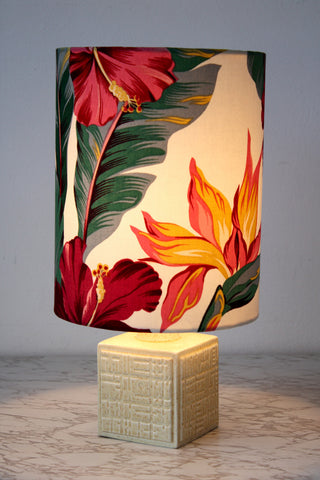 poole pottery lemon retro lamp