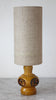 retro mustard linen lamp/SOLD