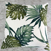 exotic monstera cushion
