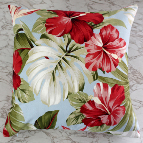 sky hibiscus oasis cushions