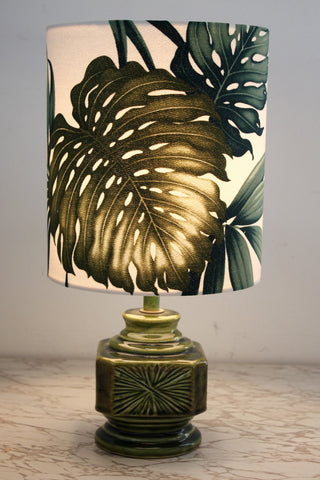 vintage retro khaki lamp/SOLD