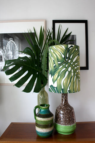 retro speckled drip glaze lamp