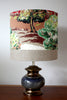 retro vintage blue bronzed lamp/SOLD