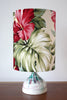 teardrop hibiscus table lamp
