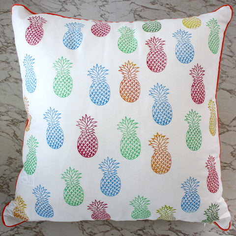 pineapple topical handprinted cushion