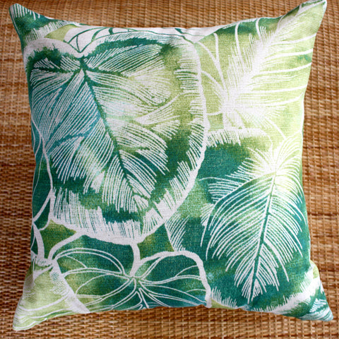 outdoor cushion covers jungle leaf