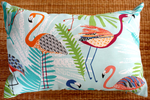 outdoor cushion covers flamingo blue