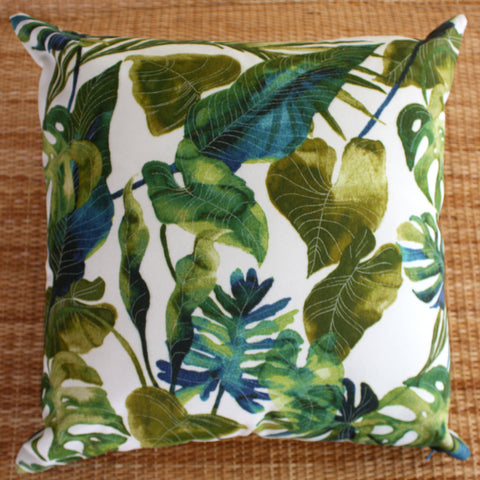 exotic palm leaf outdoor cushions with eco inners