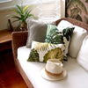 monstera leaf cushions