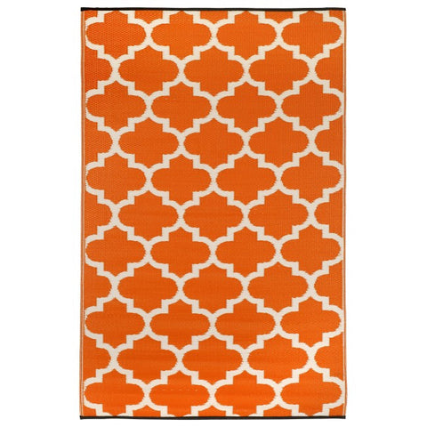 tangier orange outdoor rug