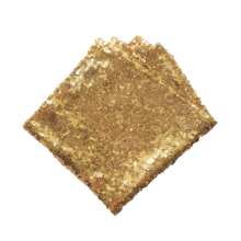 Load image into Gallery viewer, Gold Small Sequin Covered Pocket Square