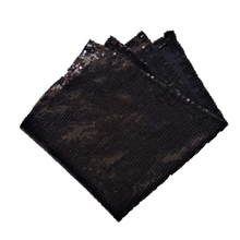 Load image into Gallery viewer, Small Black Sequin Pocket Square