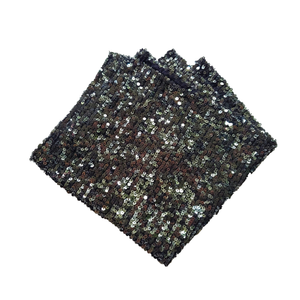 Chainlink Sequin Pocket Square