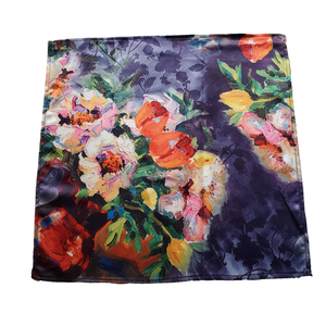 Sheer Watercolor Flower Pocket Square