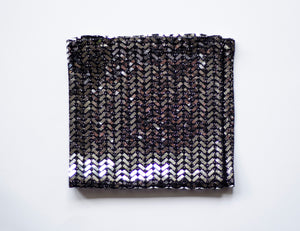 Shiny disco fancy pocket square made locally in Vancouver BC by Brook Pooni Non-Profit Group.