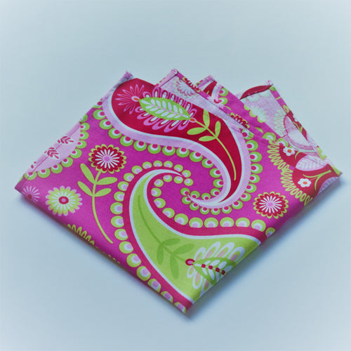 Bright Pink and Colorful Paisley