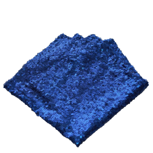 Blue sequin fancy  pocket square made locally in Vancouver BC by Brook Pooni Non-Profit Group.