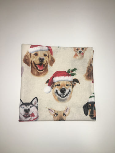 Holiday Dog Pocket Square