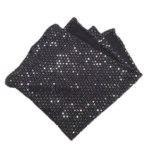 Load image into Gallery viewer, Black and Sequin Fancy Pocket Square