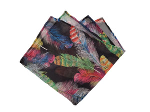 Sheer and feathery pocket square made locally in Vancouver BC by Brook Pooni Non-Profit Group.