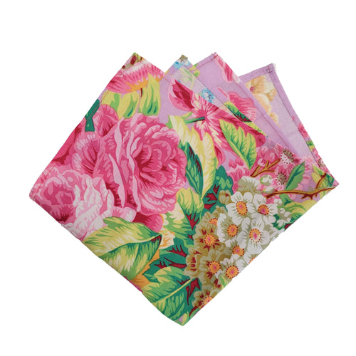 Colorful Floral Print Pocket Square