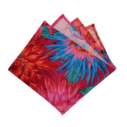 Colorful Floral Burst Pocket Square
