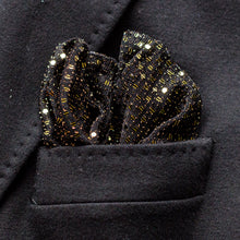 Load image into Gallery viewer, Gold shiny fancy pocket square made locally in Vancouver BC.