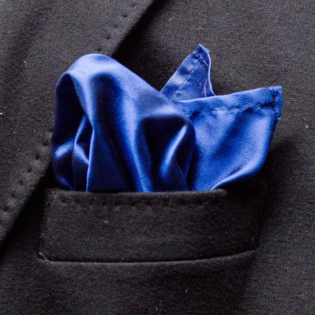 Princess Blue Pocket Square