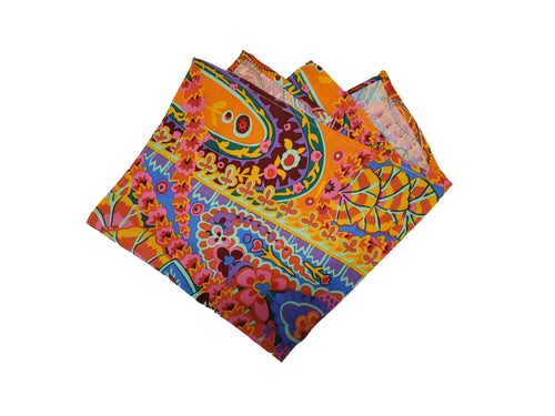 Colourful Paisley Pocket Square