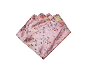 Colourful Floral Pocket Square (Indian Saree Material)