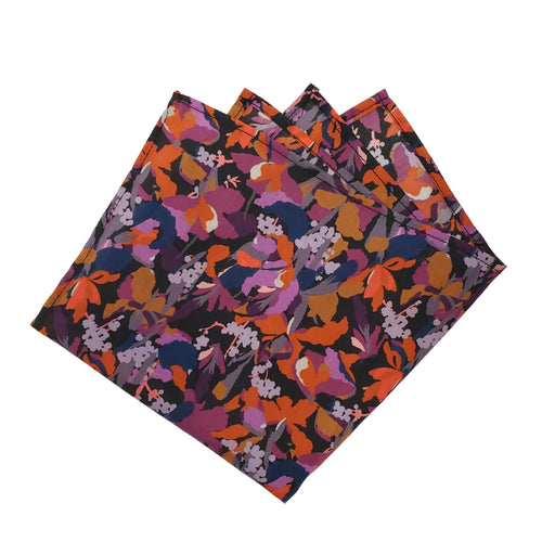 Dark Cutout Plant Patterned Pocket Square