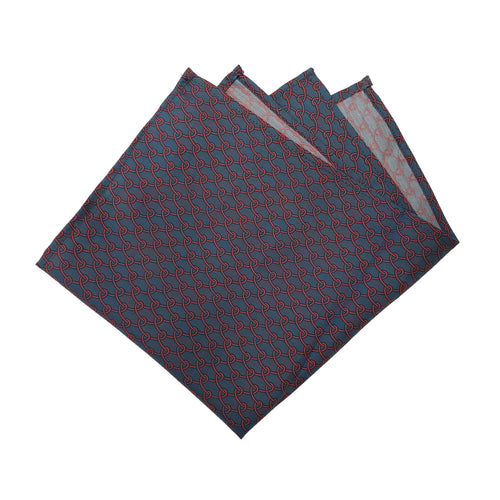Red Roped Pattern Pocket Square