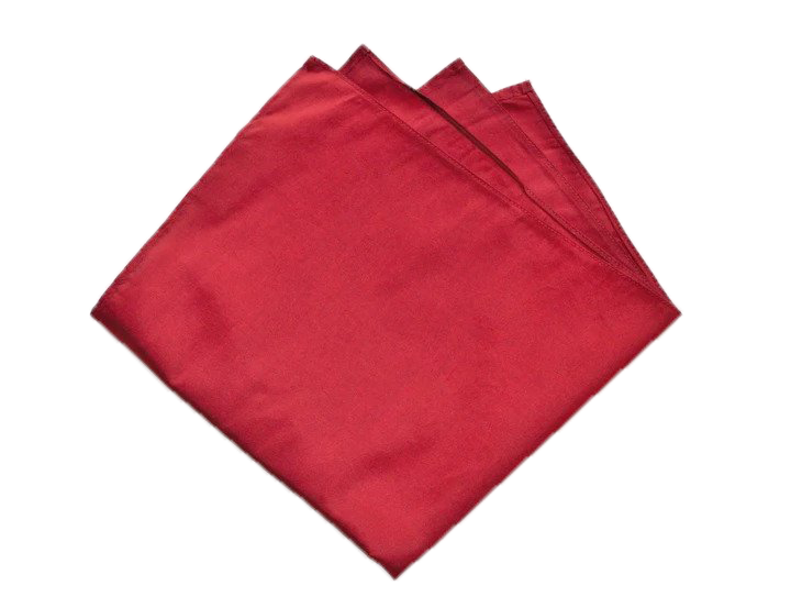 Fiery Red Pocket Square