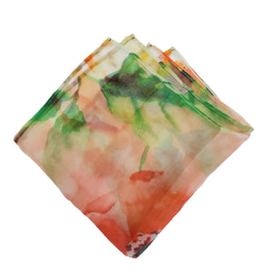 Sheer Floral Pocket Square - Spring Collection