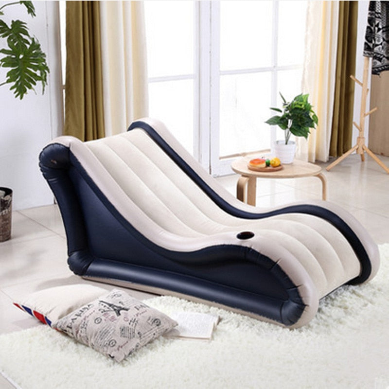 Air Bed Single Bedroom Lounger Inflatable Sofa Chair Fashion