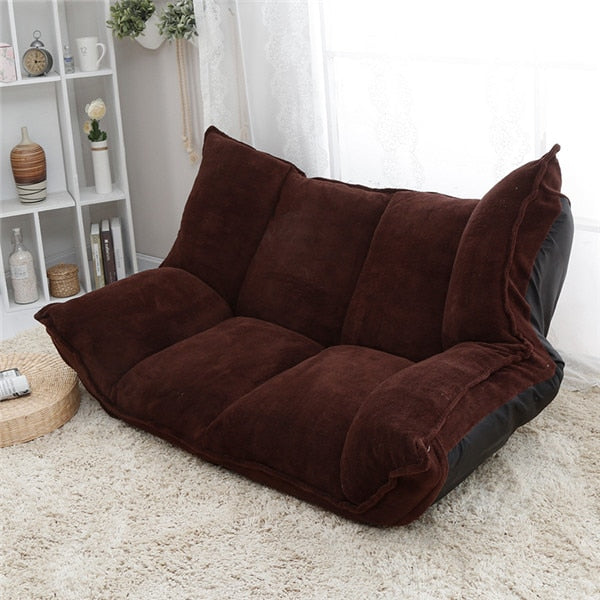8cf0530ce671 Adjustable Fabric Folding Chaise Lounge Sofa Chair Floor Couch Living Room Furniture  Sofa Daybed Sleeper Leisure