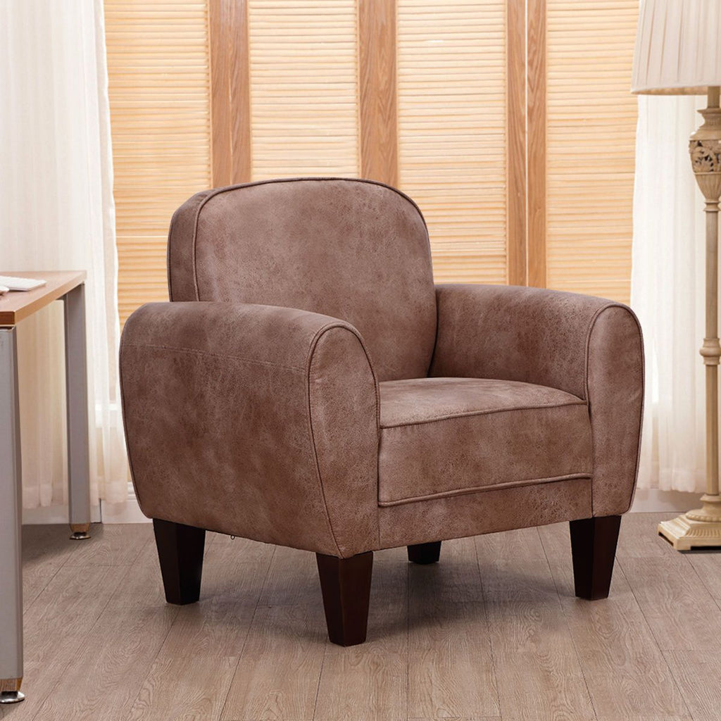 Giantex Single Sofa Leisure Arm Chair Accent Upholstered Living Room ...