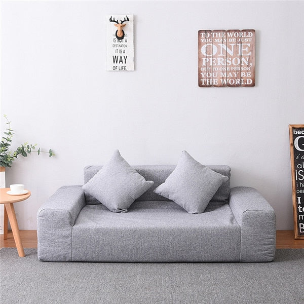 Modern Floor Double Sofa Love Seat Fabric Upholstery For Living Room  Bedroom Loft Furniture Japanese Futon Sofa Couch Loveseat